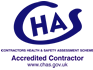 CHAS Accredited Contractor.
