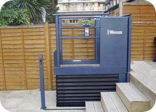 rollstuhl lift hebeb hne hauslift plattformlift treppenlift b hne aufzug ebay. Black Bedroom Furniture Sets. Home Design Ideas